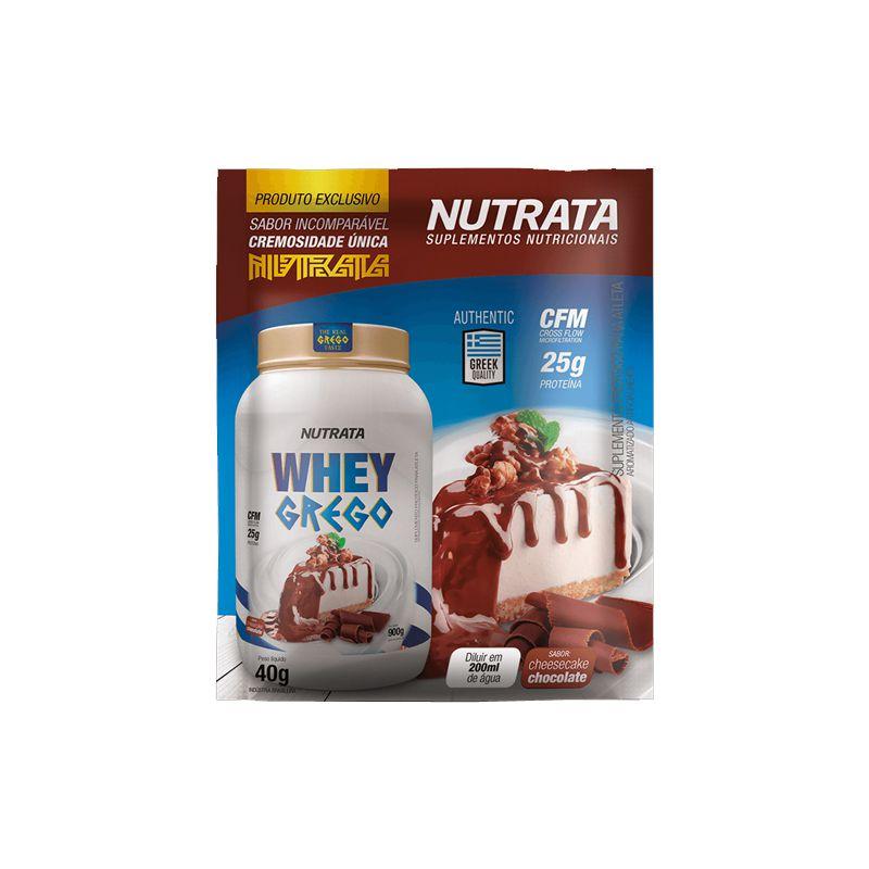 Whey Grego - 1 Sachê de 40g - Nutrata