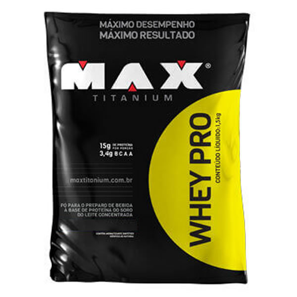 Whey Pro 1,5 Kg - Max Titanium