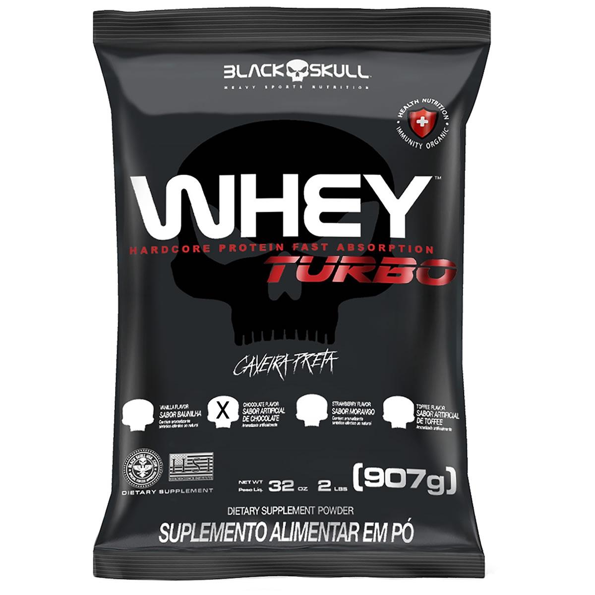 Whey Turbo 900g - Black Skull