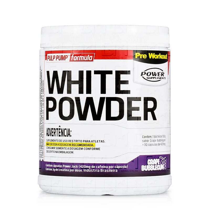 White Powder - 150g + 30 Cápsulas - Power Supplements