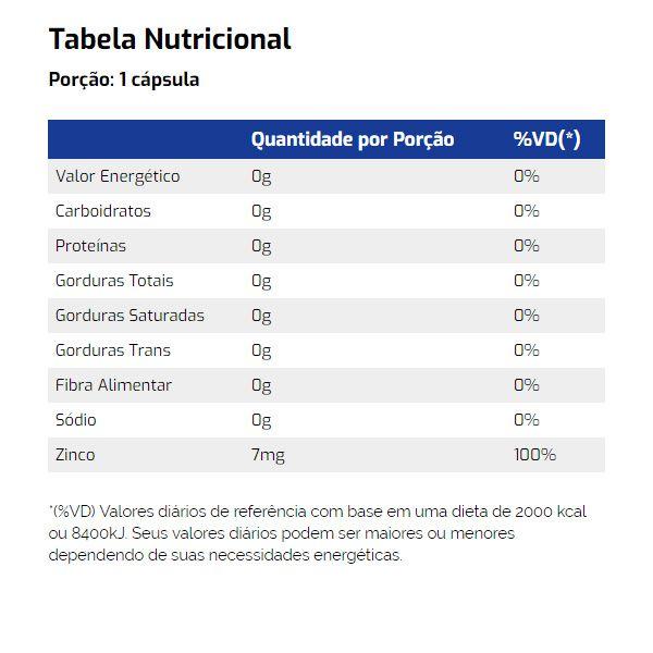 Zinc Chelated 90 Cápsulas - Vitamin Life