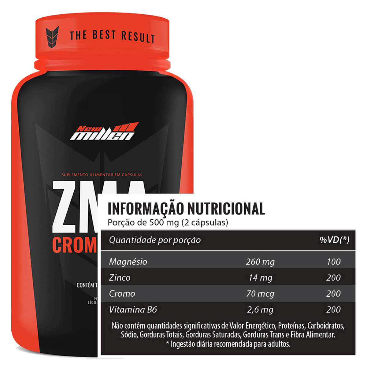 ZMA 100 Cápsulas - New Millen
