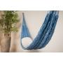 Rede de Dormir Descanso Corda Trançada Algodão Azul Luxo
