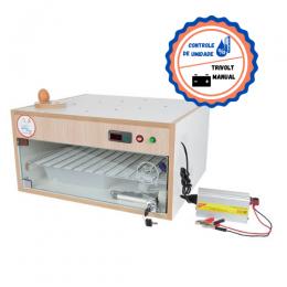 Chocadeira ALTA ECLOSÃO Automática 120 ovos Trivolt controle de Umidade e 4 ventiladores (GC120TU)