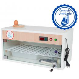 Chocadeira ALTA ECLOSÃO Automática com 2 ventiladores e controle de Umidade Bivolt  60 ovos com ovoscópio (GC60U)