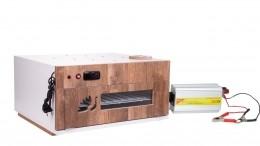 """Chocadeiras ALTA PERFORMANCE Premium (120 ovos) """"4 ventiladores"""" Trivolt com ovoscópio (PVP 120T)"""