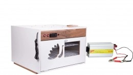 """Chocadeira ALTA PERFORMANCE (220 ovos) """"4 ventiladores""""  Trivolt e ovoscópio (PV 220 T)"""