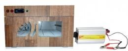 """Chocadeira ALTA PERFORMANCE Premium (220 ovos) """"4 ventiladores""""  Trivolt e ovoscópio (PVP 220 T)"""