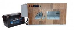 """Chocadeira ALTA PERFORMANCE (220 ovos) """"4 ventiladores"""" Trivolt com Carregador Embutido e ovoscópio (PVP 220 TC)"""