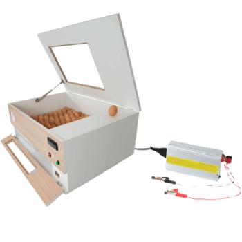 Chocadeira ALTA ECLOSÃO Automática 120 ovos BOX TRIVOLT com controle de Umidade 6 ventiladores (GCB120TU)