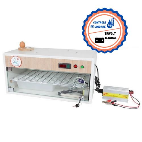 Chocadeira ALTA ECLOSÃO Automática 2 ventiladores e controle de Umidade Trivolt  60 ovos  (GC60TU)