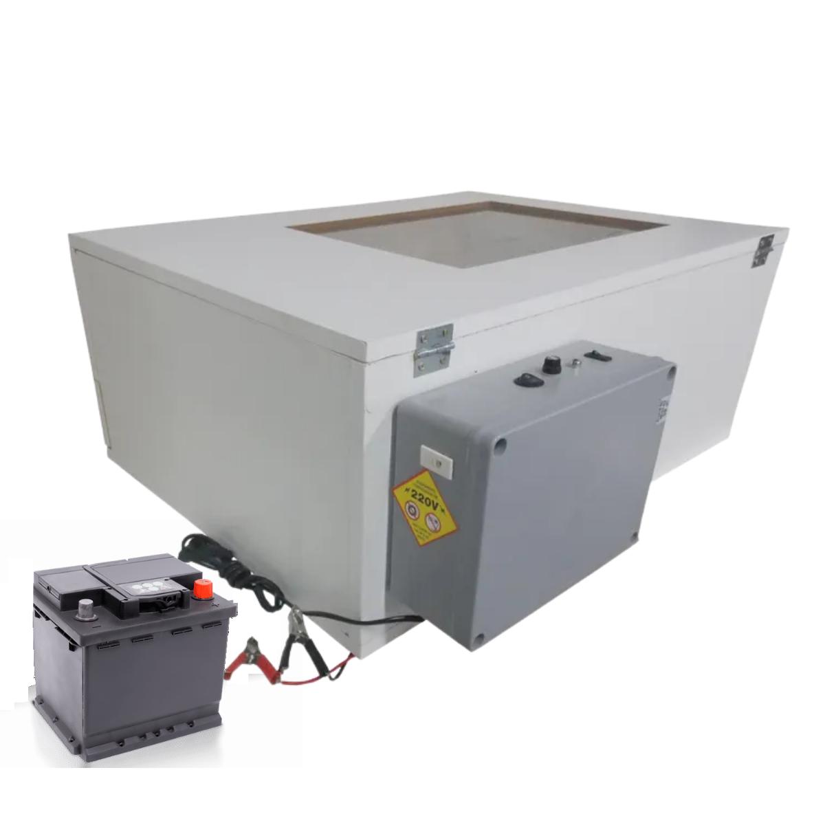 Chocadeira ALTA ECLOSÃO BOX Trivolt com Carregador Embutido 120 ovos 6 ventiladores (GCB120TC)  - GALINHA CHOCA CHOCADEIRAS