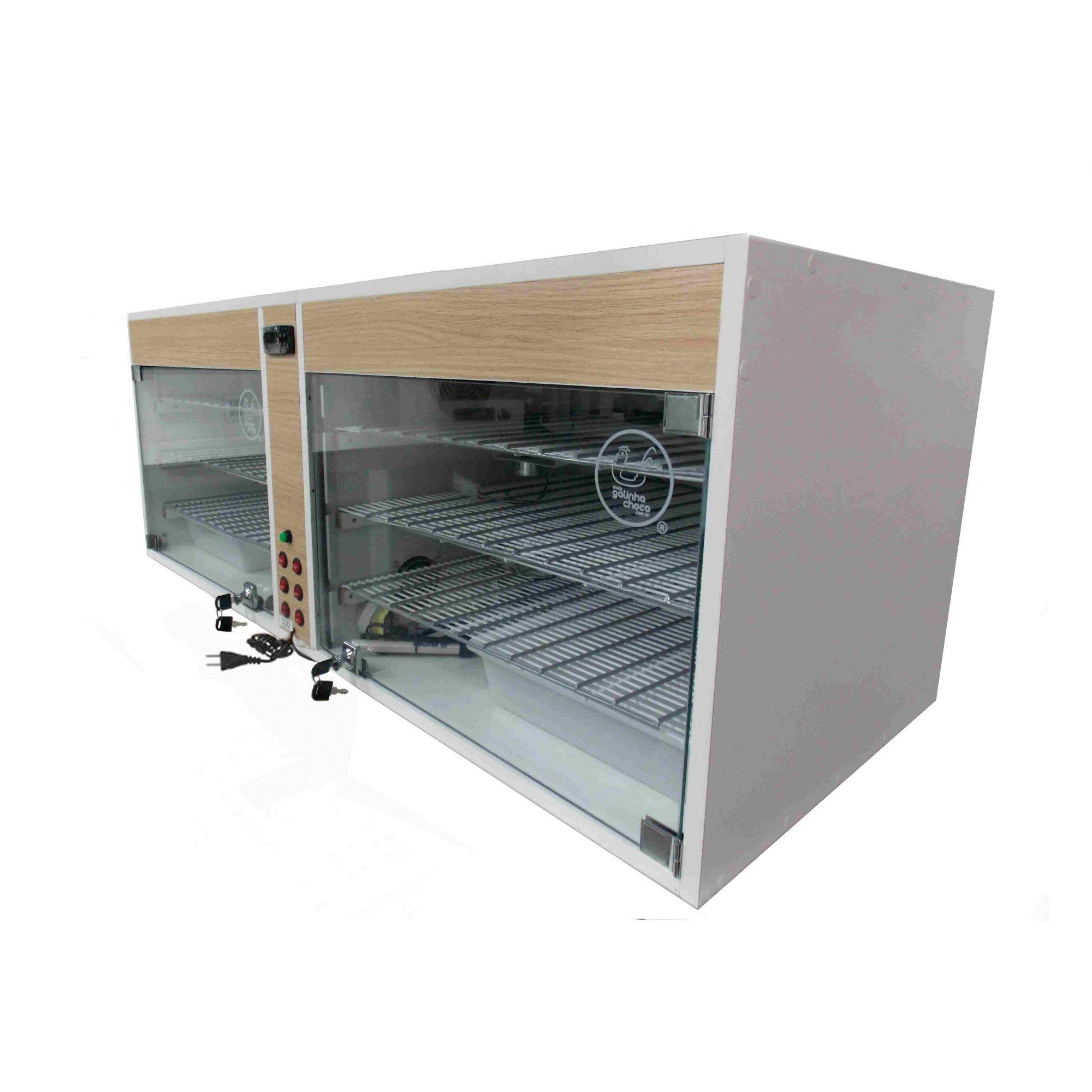 Chocadeira ALTA ECLOSÃO Automatica com 14 ventiladores e controle de Umidade 660 ovos