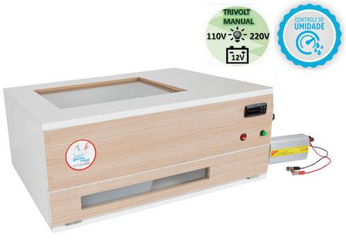 Chocadeira ALTA ECLOSÃO Automática 120 ovos BOX TRIVOLT com controle de Umidade (GCB120TU)