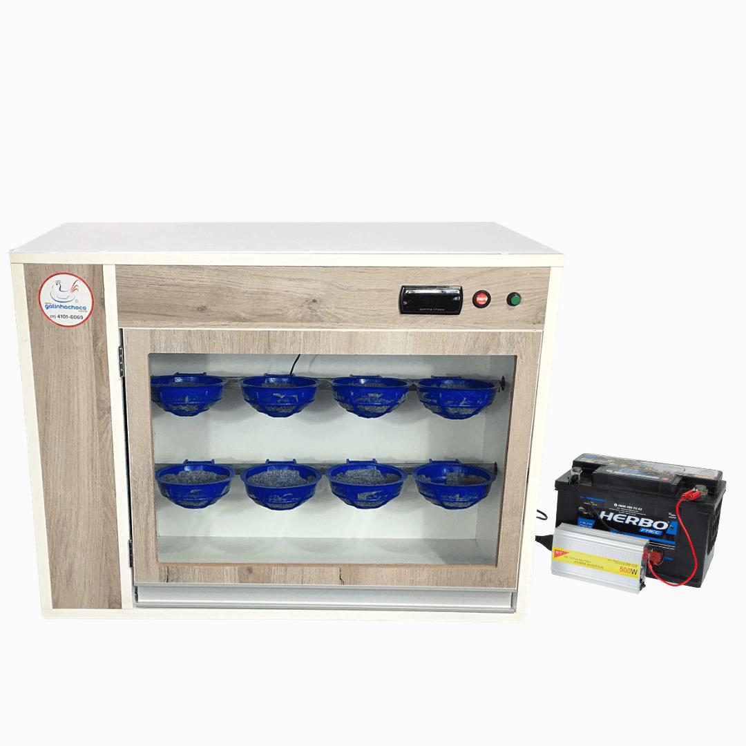 Chocadeira de Pássaros ALTA ECLOSÃO Trivolt, Automática com 8 nichos e 3 ventiladores (GC PASSÁRO T)