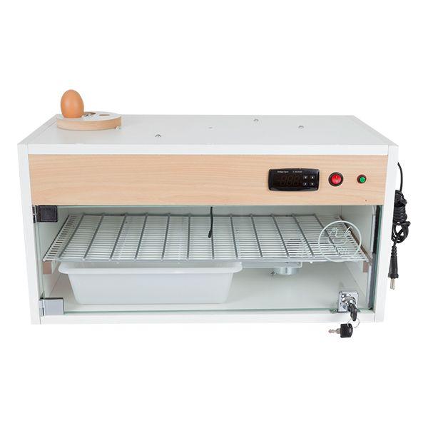 Chocadeira ALTA ECLOSÃO Automática Bivolt PID com 2 ventiladores 60 ovos com Ovoscópio  (GC60PID)