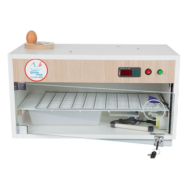Chocadeira ALTA ECLOSÃO Automática com 2 ventiladores e controle de Umidade Bivolt  60 ovos com ovoscópio (GC60U)  - GALINHA CHOCA CHOCADEIRAS