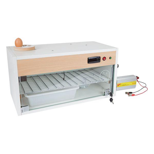 Chocadeira ALTA ECLOSÃO Automática  Trivolt  60 ovos com 2 ventiladores e ovoscópio (GC60T)