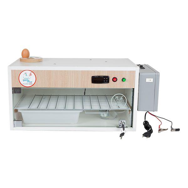 Chocadeira ALTA ECLOSÃO Automática Trivolt 60 ovos e 2 ventiladores com ovoscópio e carregador embutido (GC 60 TC)