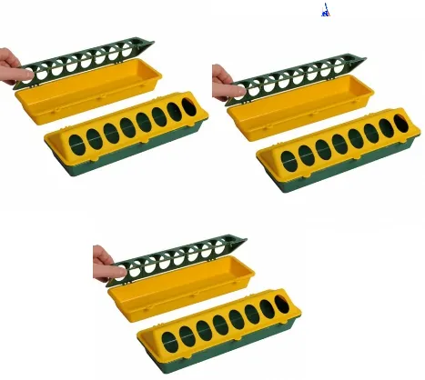 Comedouro Linear 30cm para pintinho (3 peças)