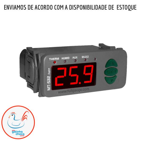 ( Controlador )Termostato digital com controle de Umidade e temporizador cíclico