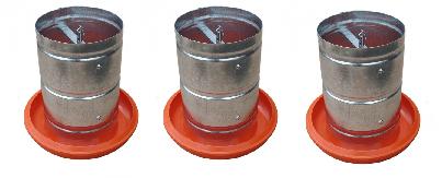 Comedouro Tubular 5 kg Galvanizado ( 3 unidades)