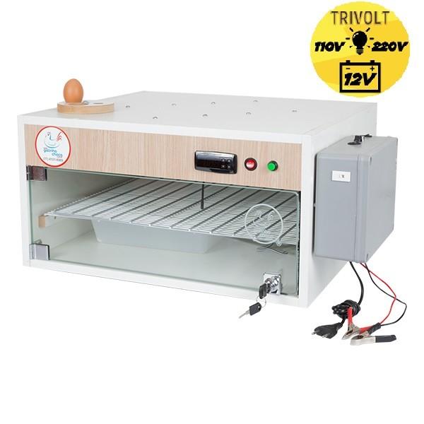 Chocadeira ALTA ECLOSÃO Automática Trivolt com 4 ventiladores e carregador embutido 120 ovos (GC 120tc)