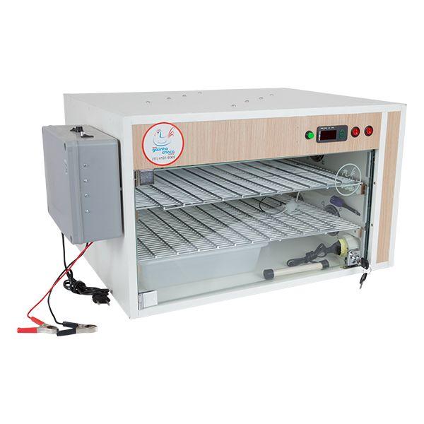 Chocadeira ALTA ECLOSÃO 220 ovos 7 ventiladores Trivolt com carregador e Controle de Umidade (GC220TCU)