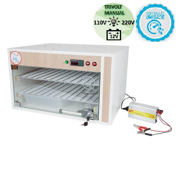 Chocadeira ALTA ECLOSÃO Automática Trivolt 220 ovos com 7 ventiladores e controle de umidade (GC220TU)