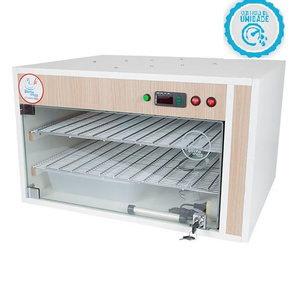 Chocadeira ALTA ECLOSÃO Automática Bivolt 220 ovos com 7 ventiladores e controle de Umidade (GC220U)