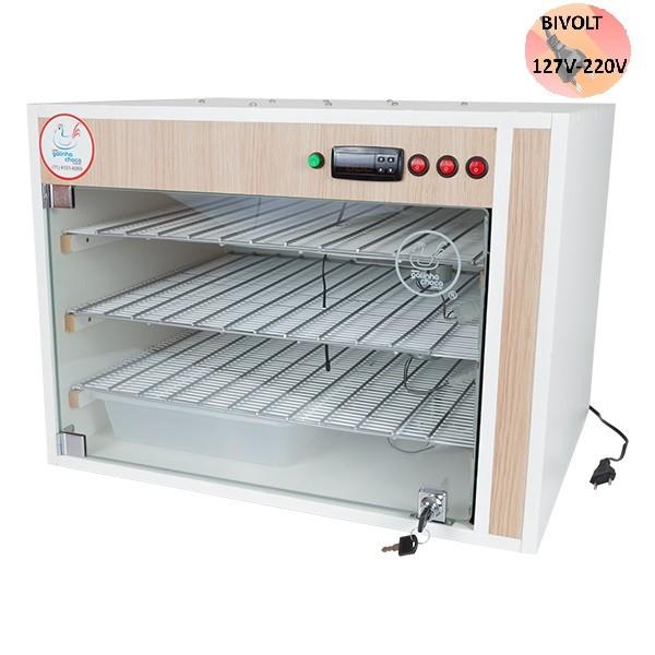Chocadeira ALTA ECLOSÃO Automática Bivolt PID 330 ovos com 7 ventiladores (GC330PID)