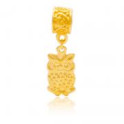 Berloque Coruja Dourada