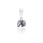 Berloque Elefante Em Prata 925