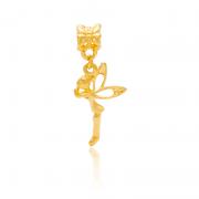 Berloque Fadinha Encantada Dourada