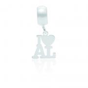 Berloque I Love Alagoas Desenhado a Laser Em Prata 925