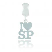 Berloque I Love SP A Laser Em Prata 925