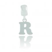 Berloque Letra R Em Prata 925