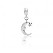 Berloque  Lua  Em Prata 925