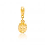 Berloque Menina Feliz Dourada