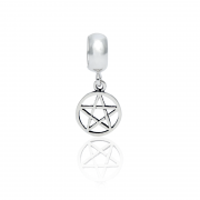 Berloque Pentagrama Em Prata 925