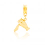 Berloque Secador De Cabelo Dourado