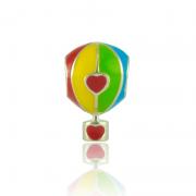 Berloque Separador Balão Colorido Em Prata 925