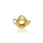 Berloque Separador Bule de Chá Dourado