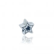 Berloque Separador Estrela Em Prata 925