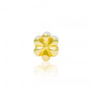 Berloque Separador Flores Douradas