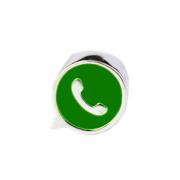Berloque Separador Ícone Whatsapp Em Prata 925
