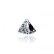 Berloque Separador Pirâmide Egípcia Em Prata 925