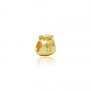Berloque Separador Saquinho De Dinheiro Dourado