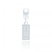 Berloque Telefone Desenhado a Laser Em Prata 925