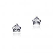 Brinco Coroa Com Zircônias Branca II Em Prata 925